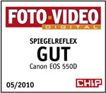 Testlogo Chip Foto Video Digital:Gut für EOS 550D
