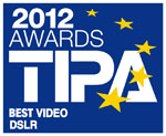 Testlogo TIPA Awards 2012 - Canon EOS 5D Mark III - Best Video DSLR